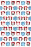 Предпосылка настоящего момента подарочной коробки подарков рождества бесплатная иллюстрация