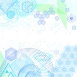 Предпосылка науки и математики абстрактная Стоковое Изображение RF