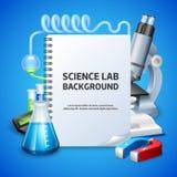 Предпосылка научной лаборатории Стоковое Изображение