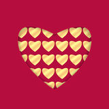 Предпосылка на день валентинки Стоковое Изображение RF