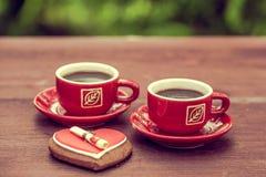 Предпосылка на теме кофе с местом для текста Стоковая Фотография RF