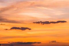 Предпосылка неба захода солнца Стоковое Изображение