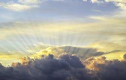 Предпосылка неба захода солнца стоковое изображение rf