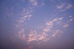 Предпосылка неба и облака Стоковая Фотография RF