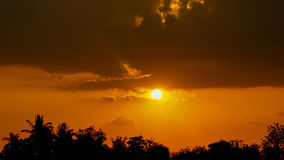 Предпосылка неба на восходе солнца рай природы элемента конструкции состава Стоковое Изображение
