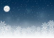 Предпосылка неба снежинки иллюстрация штока