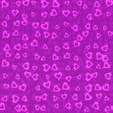 Предпосылка неона формы сердца Стоковое Изображение RF