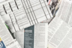 Предпосылка нерезкости газеты стоковое изображение rf