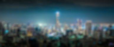 Предпосылка нерезкости города ночи городская Стоковые Фотографии RF