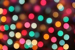 Предпосылка нерезкости праздника праздничным заполненная цветом Стоковая Фотография RF