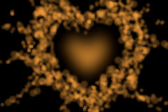 предпосылка нерезкости bokeh сердца пламени Стоковое Фото