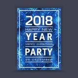 Предпосылка Нового Года с космосом для вашего текста приветствие рождества карточки Рамка зимы с снежинками Стоковые Изображения