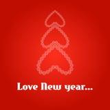 Предпосылка Нового Года с рождественской елкой Стоковые Изображения RF