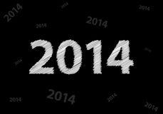 Предпосылка 2014 Нового Года иллюстрация штока