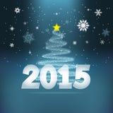 Предпосылка 2015 Нового Года Стоковое Изображение RF