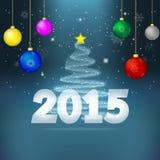 Предпосылка 2015 Нового Года Стоковые Фото