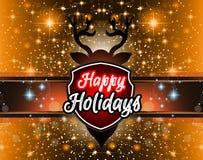 Предпосылка 2015 Новых Годов и счастливого рождеств для ваших рогулек Стоковые Изображения RF