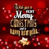 Предпосылка 2015 Новых Годов и счастливого рождеств Стоковая Фотография RF