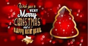 Предпосылка 2015 Новых Годов и счастливого рождеств Стоковое Изображение