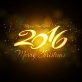 Предпосылка 2016 Новых Годов для ваших приглашения или поздравительной открытки Стоковые Изображения