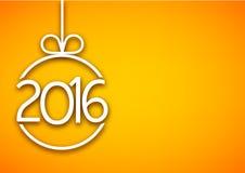 предпосылка 2016 Новых Годов Стоковое фото RF
