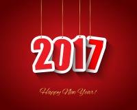 Предпосылка 2017 Новых Годов иллюстрация штока