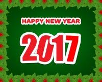 Предпосылка 2017 Новых Годов иллюстрация вектора