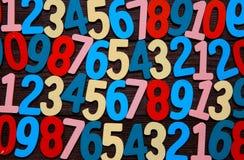 Предпосылка номеров от нул до 9 иллюстрация предпосылки нумерует вектор Текстура номеров Стоковое Изображение