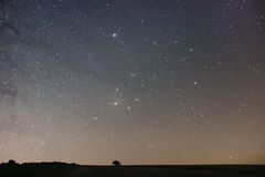 Предпосылка ночи ночное небо звёздное звезды ночного неба Стоковое Изображение RF