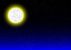 Предпосылка ночи с лунным светом иллюстрация вектора