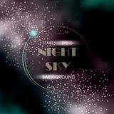 Предпосылка ночного неба с млечным путем Стоковое фото RF
