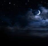 Предпосылка ночного неба Стоковые Изображения