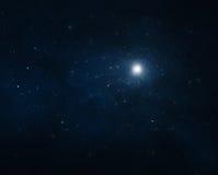 Предпосылка ночного неба иллюстрация вектора
