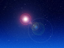 Предпосылка ночного неба Стоковая Фотография