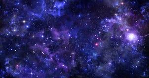 Предпосылка ночного неба Стоковое фото RF