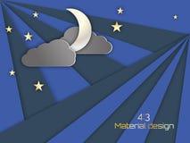 Предпосылка ночного неба Стоковая Фотография RF