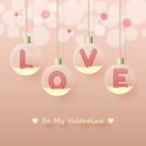 Предпосылка дня валентинки влюбленности Стоковое Фото