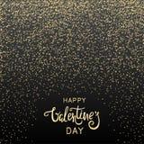 Предпосылка дня валентинки с золотым confetti Стоковое фото RF