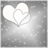 Предпосылка дня валентинки Snowy Стоковые Фотографии RF