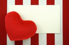 Предпосылка дня валентинок с пустой карточкой Стоковые Фото