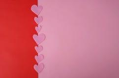 Предпосылка дня валентинок с розовыми сердцами Стоковые Фотографии RF