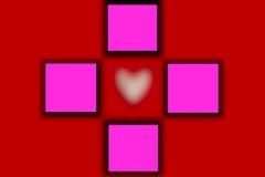 Предпосылка дня валентинок с сердцем, нерезкостью Стоковые Изображения RF