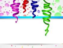 Предпосылка дня рождения с красочными воздушными шарами Стоковая Фотография RF
