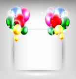 Предпосылка дня рождения с местом для текста иллюстрация вектора