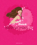 Предпосылка дня счастливых женщин с цветками весны 8-ое марта Стоковая Фотография