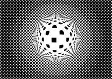 Предпосылка обмана зрения monochrome абстрактная Стоковое Изображение RF