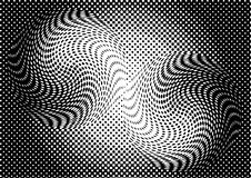 Предпосылка обмана зрения monochrome абстрактная Стоковые Изображения