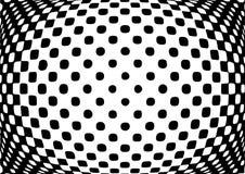 Предпосылка обмана зрения monochrome абстрактная Стоковое Фото