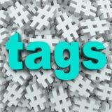Предпосылка обновления сообщения символа Hashtag бирок иллюстрация штока