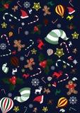 Предпосылка обоев рождества Бесплатная Иллюстрация